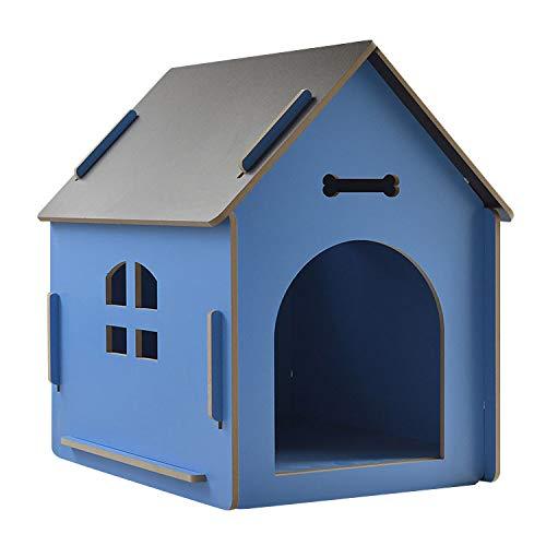 thematys Hundehütte aus Holz I Hunde-Haus für Drinnen und Draußen I Schlafplatz für Haustiere I...