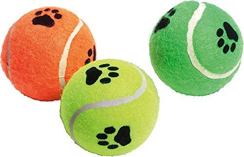Karlie 45650 Tennisbälle mit Squeeker ø: 6 cm farblich sortiert