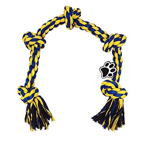 Hundespielzeug Seil Unzerstörbar Aus Baumwollknotenmit 5 Knoten für große Hunderassen