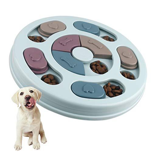 Elezenioc Hundespielzeug Intelligenz Hundefutter Welpenspielzeug,Interaktives Verlangsamen Sie das Essen...