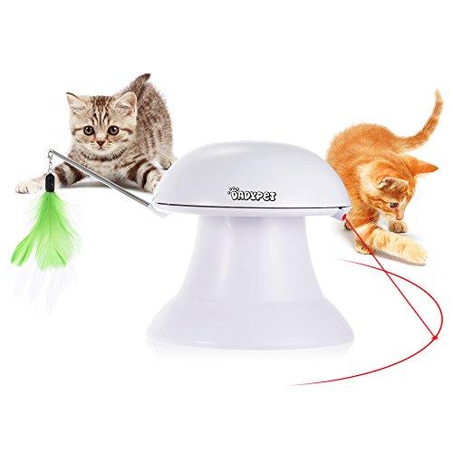 DADYPET Katzen Federspielzeug, Katzenspielzeug Elektrisch Katzenspielzeug Federstab Intelligenzspielzeug...