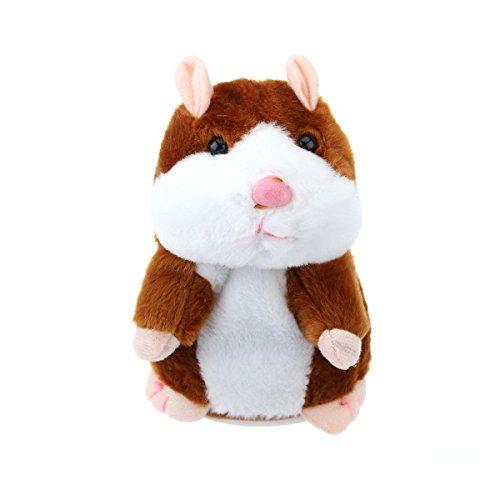 TOYMYTOY Sprechender Hamster Plüsch-Spielzeug, wiederholt, was Sie sagen, elektronisches...