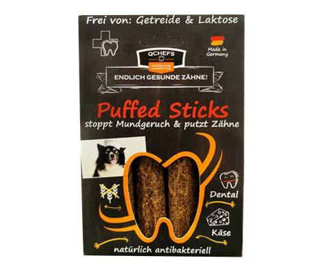 Qchefs Puffed Sticks  Hunde Zahnpflege-Snack  Kauknochen groß Knochen gegen Mundgeruch &...