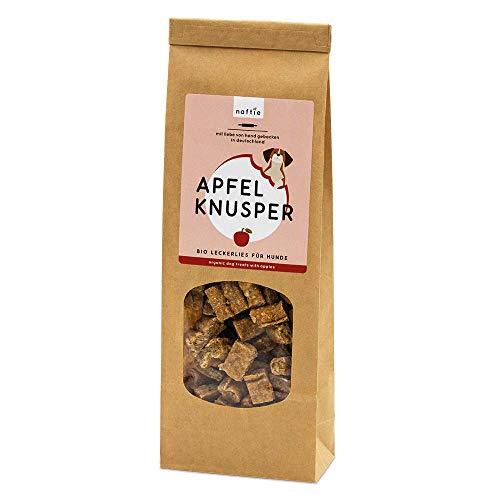 naftie Bio Leckerlies Apfel Knusper Hundekekse | nur für artige Hunde | vegane Hundeleckerli mit...