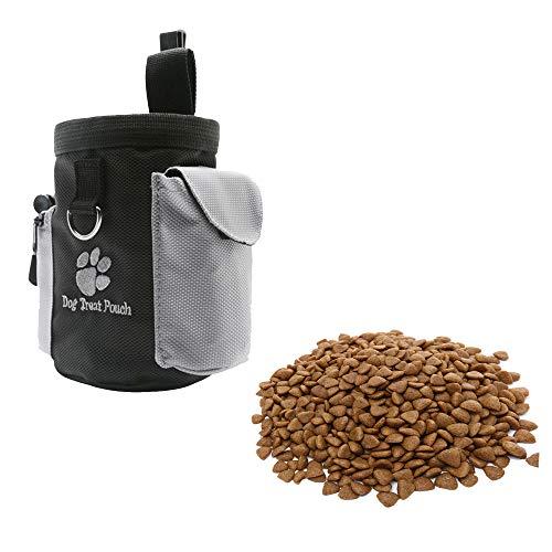 Lifemaison Hunde Leckerli-Beutel Futterbeutel mit integriertem Poop-Beutelspender und verstellbarem Bund...