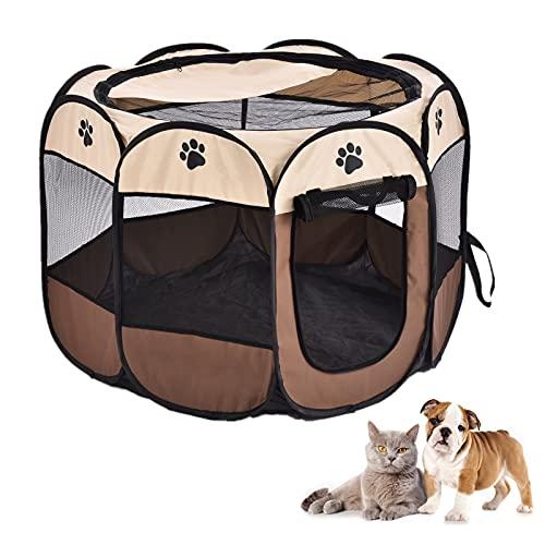 Sararoom Welpenlaufstall,Tierlaufstall faltbar Welpenauslauf Laufstall für Kleintiere wie Hunde, Katzen...