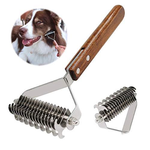 AIDIYA Professional Pet Dematting Kamm Fellpflege Abisolierwerkzeug für Hunde und Katzen (DUAL)