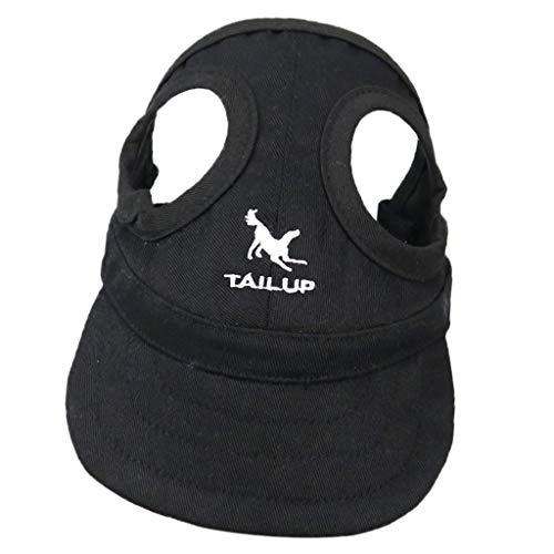 perfk Haustier Baseballmütze Sonnenhut Baseball Cap Mütze Kappe für kleine bis große Hunde - Schwarz,...