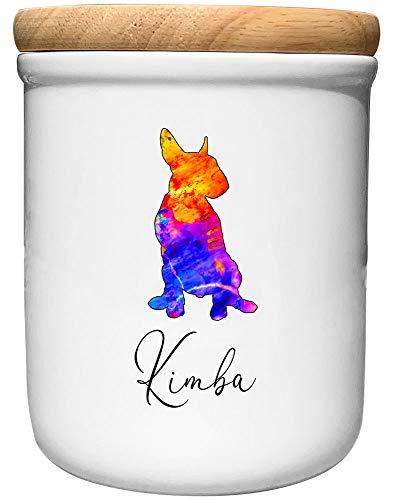Cadouri Keramik Leckerli-Dose Bullterrier » personalisiert mit Name deines Hundes «┊Snackdose...