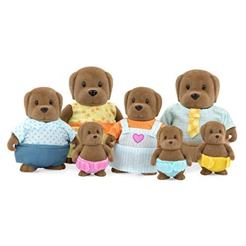 Li'l Woodzeez Hunde Tierfamilie – 7 weiche Tierfiguren mit Eltern, Kinder, Babys – auch als...