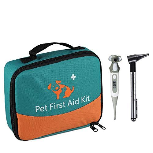 Erste-Hilfe-Set für Haustiere, Tierärztliche Erste-Hilfe-Tasche für Hunde, Katzen, Kaninchen, Tiere,...
