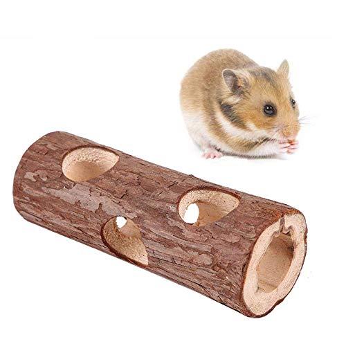 Natural Living Röhrentunnel, Hölzerne Röhre Tier Tunnel Hamster Tube Übung Kauen Spielzeug für...