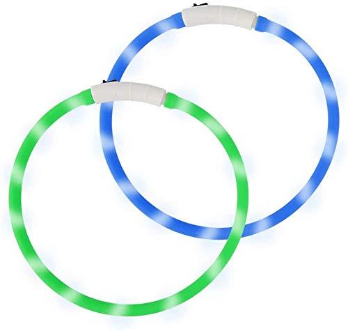 LED Leuchthalsband Hunde Halsband USB wiederaufladbar hundehalsband Leuchtend - Längenverstellbarer...