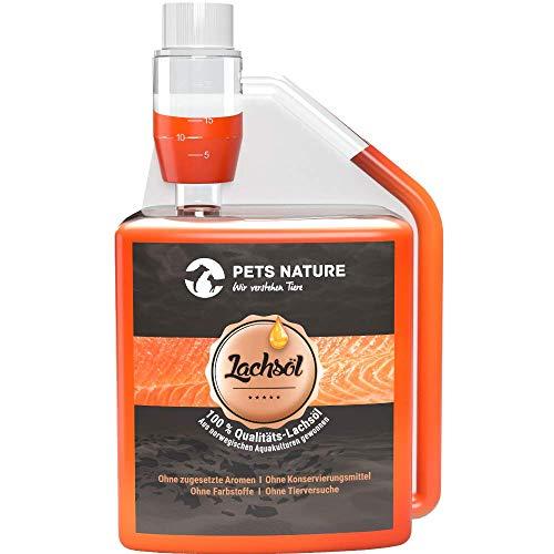 Pets Nature Lachsöl für Hunde und Katzen reines Premium Fischöl mit Omega 3 und 6 für Ihren Hund,...