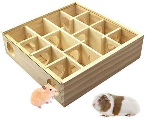 Yangwx Hamster-Labyrinth aus Holz, lustiges Spielzeug Tunnel für Kleintiere für Hamster, Mäuse, andere...