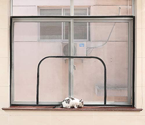 BASHI Universelles Fensternetz aus Aluminiumlegierung, Fensterschutz für Katze, abnehmbar, waschbar,...