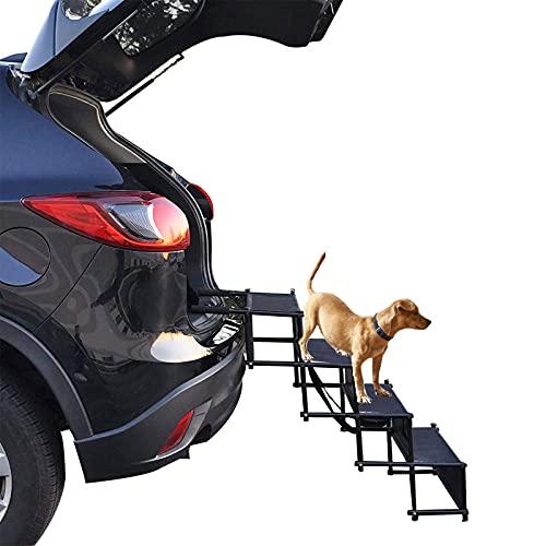 HXPainting Hunderampe Auto Klappbare rutschfeste Verstellbare Hunderampe Stütze 70 Kg Haustier Ideal...