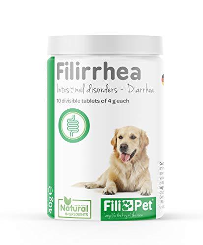 Filipet Anti-Durchfall-Tabletten für Hunde - Filirrhea Supplement - Natural wirkt schnell auf...