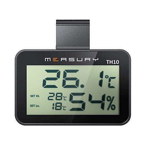 Measury Hygrometer Thermometer für das Terrarium, digitales Thermohygrometer, Hygrometer Terrarium,...