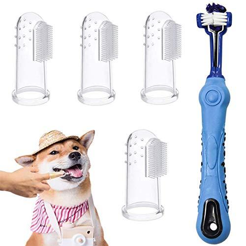 Bigbigjk Hundezahnbürste, Pet Finger Zahnbürste Hund Haustier Zahnreinigung Silikon Hund Zahnreiniger...