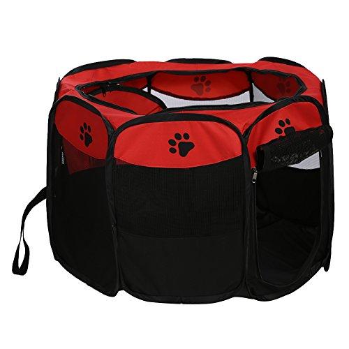 xueren Haustier-Laufstall für Hunde und Katzen, mit Krallen-Aufdruck, tragbar, faltbar, für den Innen-...
