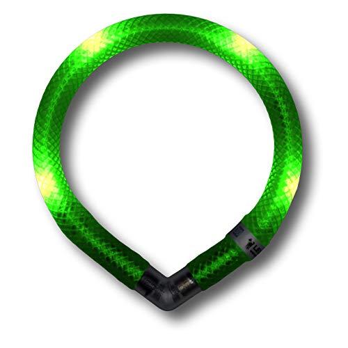 LEUCHTIE® Leuchthalsband Mini neongrün Größe 32,5 I LED Halsband extra für kleine Hunde I...