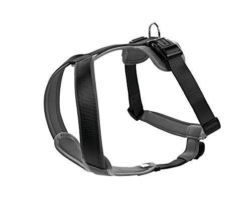HUNTER NEOPREN Hundegeschirr, Nylon, gepolstert mit Neopren, für Sport und Freizeit, schwarz/grau,...