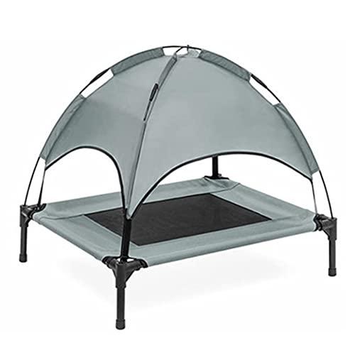 WLGQ Erhöhtes Hundebett Medium mit abnehmbarem Baldachin Erhöhtes Hundebett Zelt Indoor Outdoor Bett...