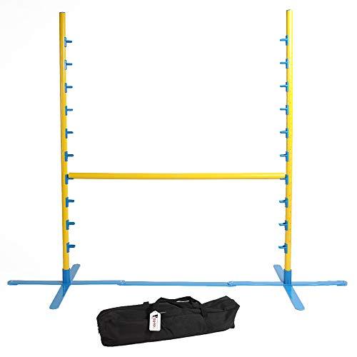 Pocky- Pet Hundehürde Agility Trainingshürde Springhürde 122cm Höhe Kunststoff blau gelb...