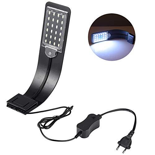 LEDGLE 10W LED Aquarium Licht Beleuchtung Kompakte Aquarienleuchte, IPX7...