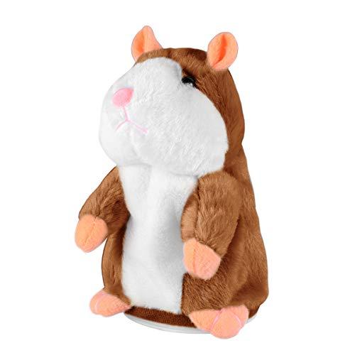 Toyvian Lustiges Plüschspielzeug mit sprechendem Hamster, Wiederholung, interaktives Spielzeug, 1 Stück...