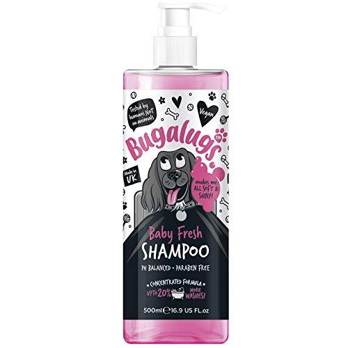 Bugalugs Baby Fresh Hunde-Shampoo, Hundepflege Shampoo-Produkte für schlehct riechende Hunde mit...