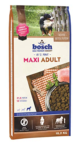 bosch HPC Maxi Adult   Hundetrockenfutter für ausgewachsene Hunde großer Rassen (ab 25 kg)   1 x 15 kg