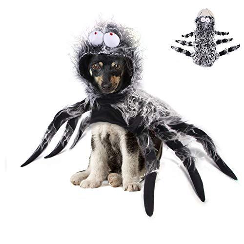 Okssud Halloween Haustier Hund Katze Kleidung Kleidung, Spinnenkostüm Skelett Weihnachtsfeier Kostüm...