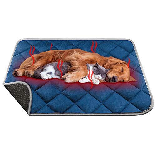 ORIMIO Selbstheizende Hundedecke Katzendecke 90x60cm, Waschbare Wärmematte Heizkissen Handmade für...
