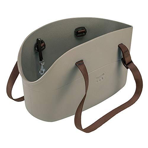Ferplast 79505012 Hundetragetasche, Maße: 43,5 x 21,5 x 27 cm, grau