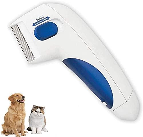 Elektrischer Flohkamm für Haustiere,Elektrischer Bürstenkamm,Reinigung von Haustieren mit...
