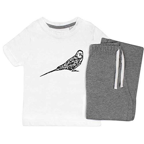 Azeeda 5-6 Jahre 'Wellensittich' Kinder Nachtwäsche / Pyjama Set (KP00041198)