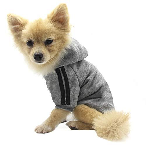 QiCheng&LYS Hundemantel Hund Hoodies Kleidung, Pet Puppy Katze Niedlicher Baumwoll Warm Hoodies Coat...