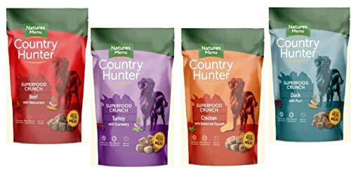 Country Hunter Natures Menu I Dog Superfood Crunch Mix-Paket I 4X 1,2 kg