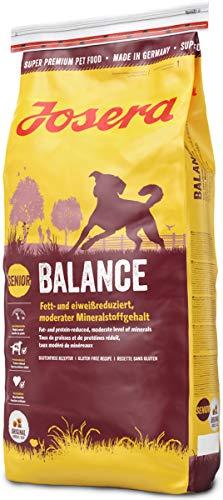 JOSERA Balance (1 x 15 kg)   fett- und eiweißreduziertes Hundefutter für Senioren   glutenfrei   Super...