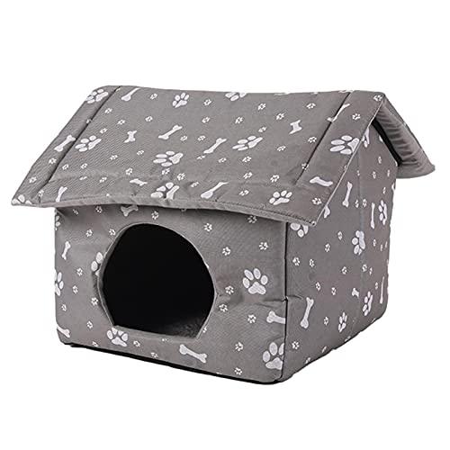 Hearthxy Katzenhaus für Draußen Winterfest Indoor Outdoor Katzenhöhle Katzenhütte Hautier Haus...