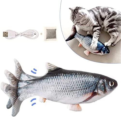 Katzenspielzeug Elektrisch Fisch, Flippity Elektrisch Fish Spielzeug für Katzen, USB Elektrische Plüsch...