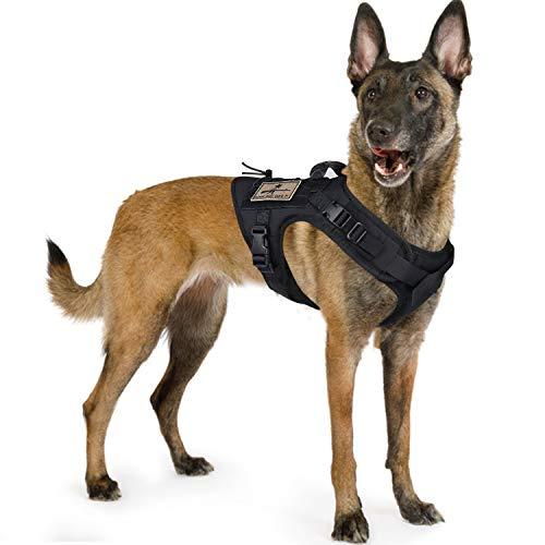 SALFSE Taktisches Hunde-Trainingsgeschirr Outdoor Arbeitsweste Verstellbare Militärweste MOLLE...