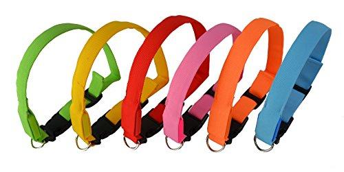 LED Leuchthalsband/ Sicherheitshalsband mit 3 Leuchtmodi inklusive Batterien und gratis Ersatzbatterien...