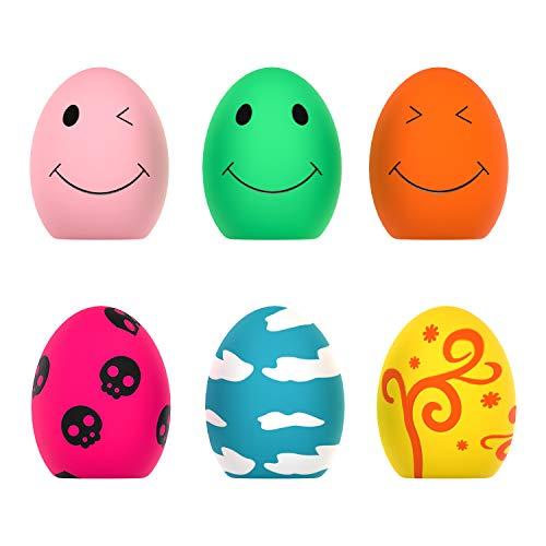 Quietschendes Spielzeug für Hunde, 6 PCS Rubber Bouncy Egg Balls mit Quietschspielzeug für kleine...