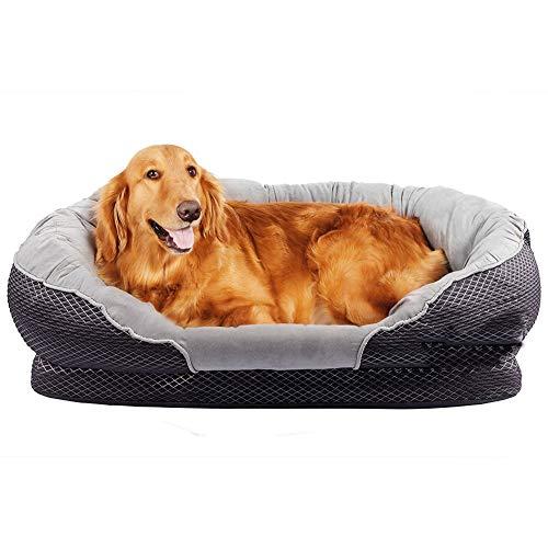 Gutekatz Hundebett, Hundekorb waschbar, Hundesofa, Hundematte, kuscheligem Plüschen Hundekissen,...