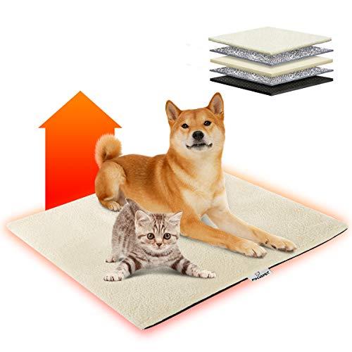 Focuspet Wärmedecke Katze, 70x50cm Katzendecke waschbar umweltfreundliche und selbstheizende Decke für...