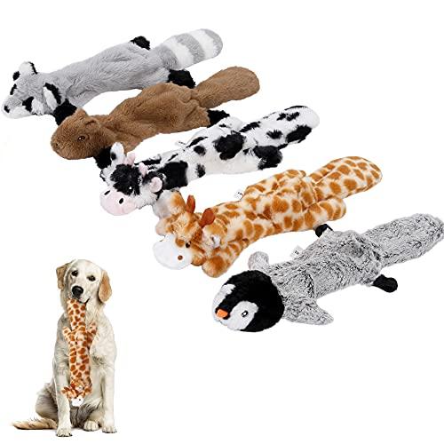 Iokheira Hundespielzeug Quietschend,Füllungsfreie Spielzeug für Hund,Plüschtier Kauen Spielzeug für...