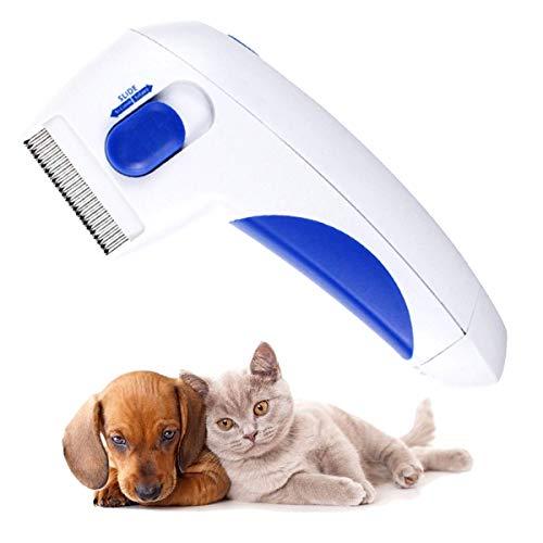 RBNANA Elektrischer Flohkamm für Haustiere, Läuseentfernung, sicher, bequem, elektrische Flohbürste...